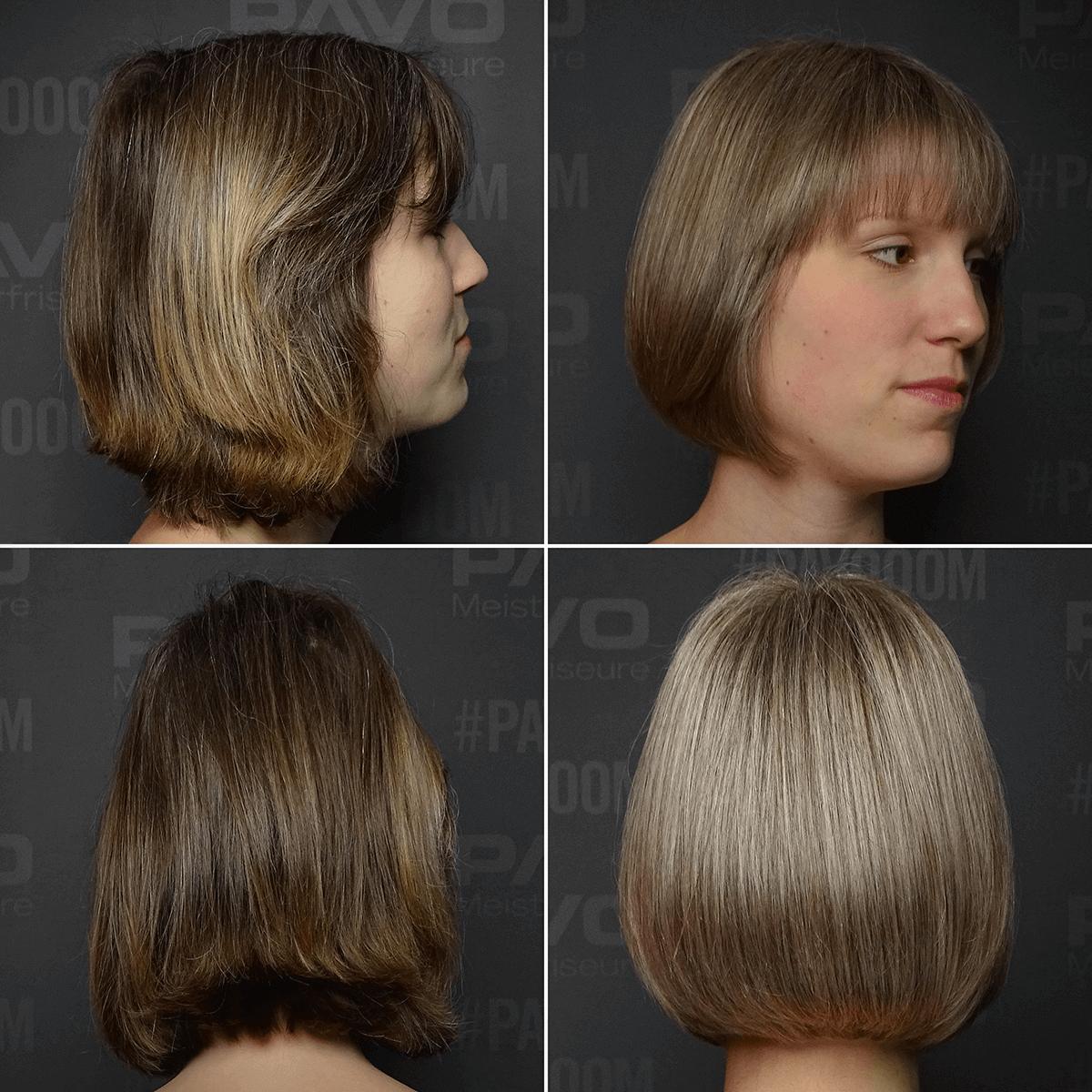 erste graue haare strähnen
