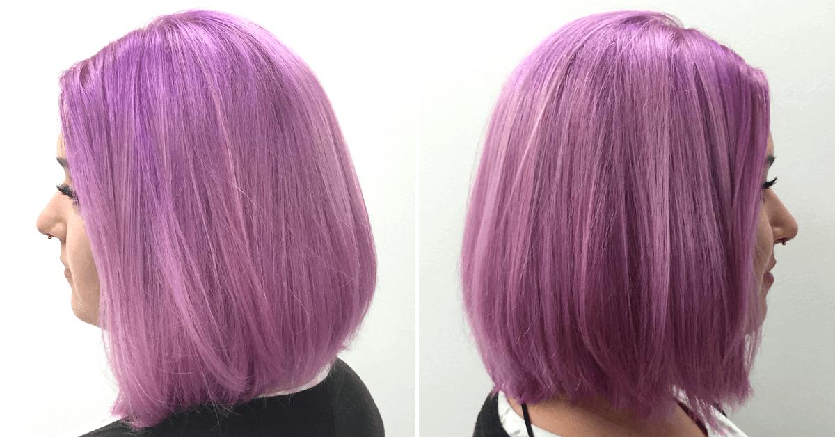 Fee mit Lila Haaren