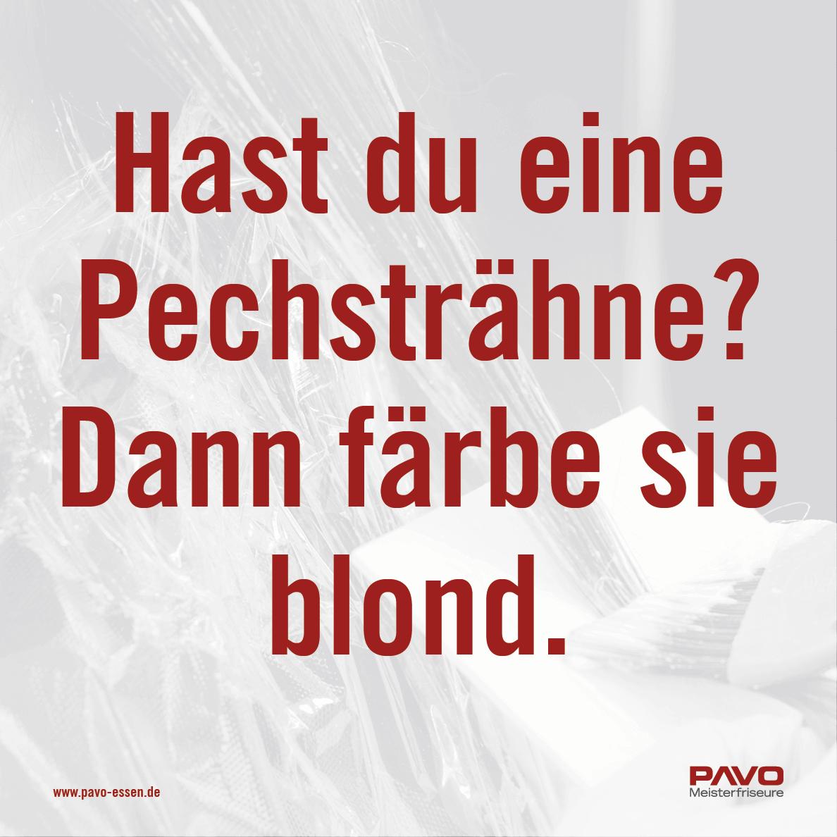 Hast du eine Pechsträhne? Dann färbe sie blond.
