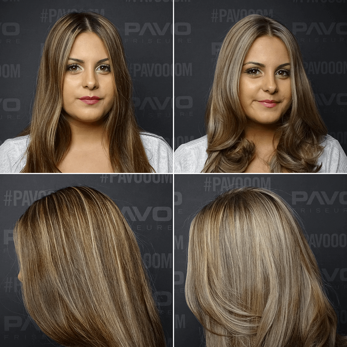 Dunkelblond strähnen frisuren mit Jennifer Aniston