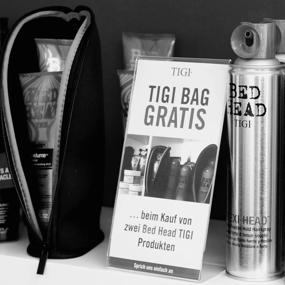 Zwei Bed Head TIGI Produkte kaufen und einen TIGI BAG gratis bekommen