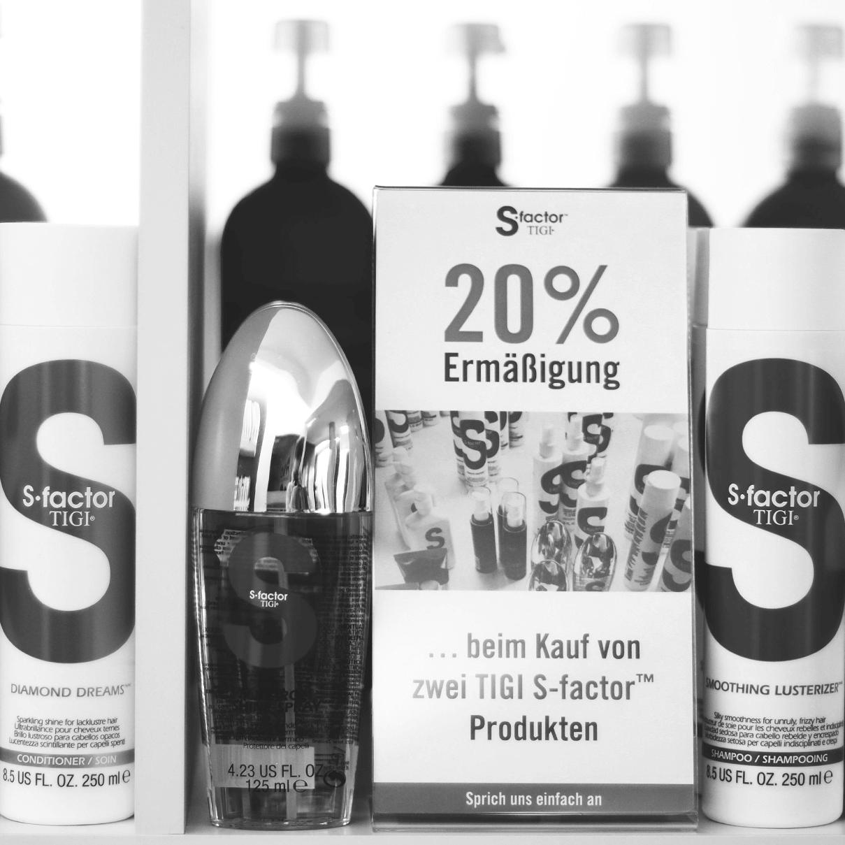 20% Ermäßigung beim Kauf von zwei TIGI S-factor Produkten